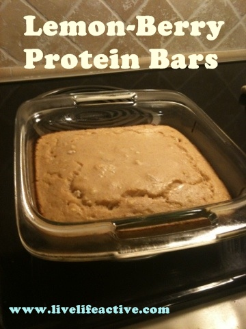 Lemon Berry Protein Bars Recipe