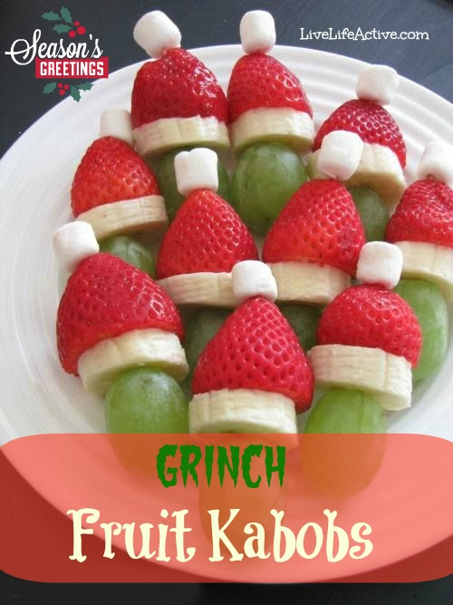Grinch Fruit Kabobs Recipe