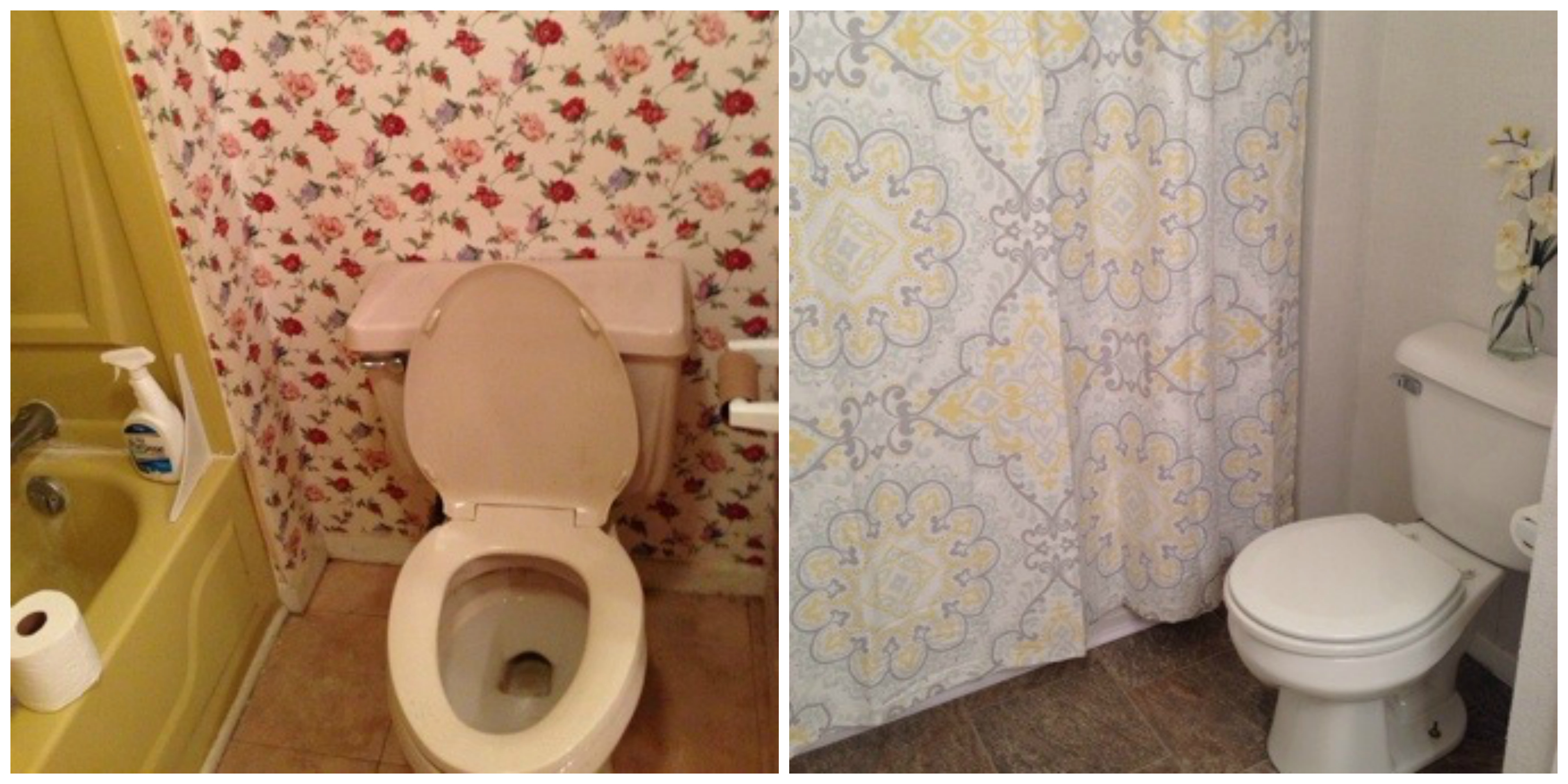 bathroom makeover before and after 2