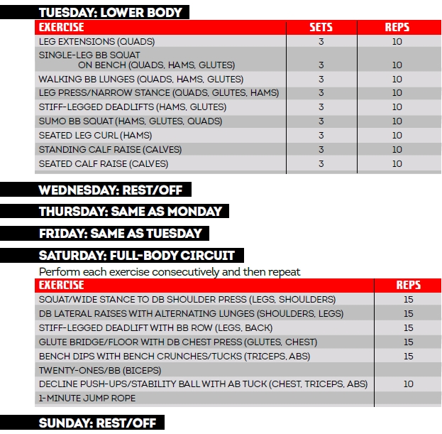 Jamie Eason S 30 Day Knockout Total Body Workout Program