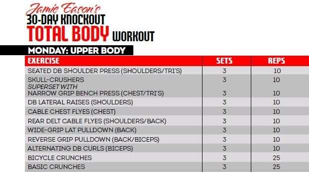Jamie Eason's 30 day knockout total body workout program!
