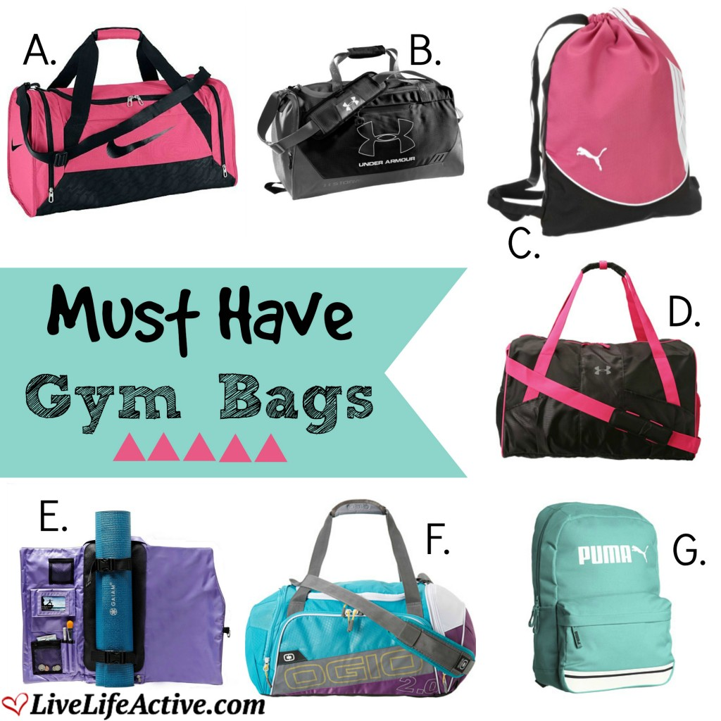 Must Have Gym Bags - Live Life Active Fitness Blog