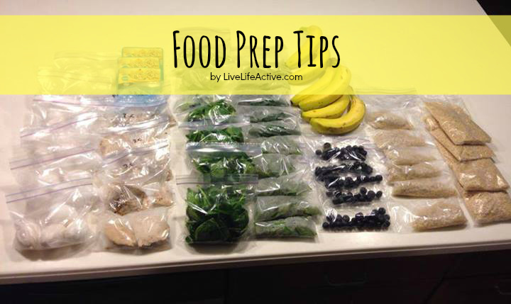 Food Prep Tips!  Prep all your food on Sundays and prepare yourself for a successful week.