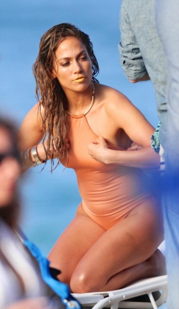 Jennifer Lopez in One Piece Swimsuit