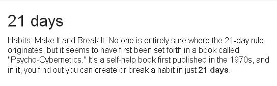 habit in 21 days