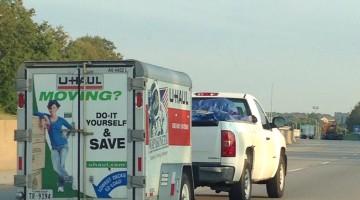 Uhaul and truck
