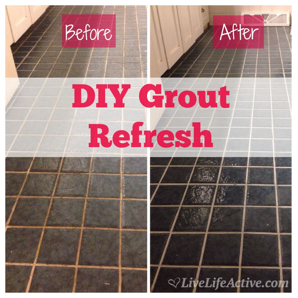 MAPEI Grout Refresh Before and After