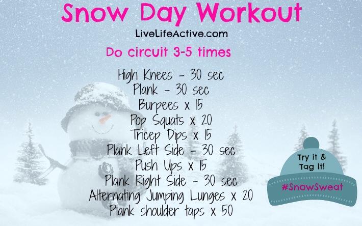 my favorite snow day workout live life active fitness blog. Black Bedroom Furniture Sets. Home Design Ideas