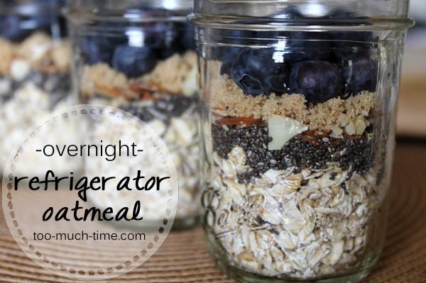 Mason Jar Overnight Oatmeal Recipe