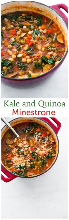 Kale and Quinoa Minestrone Soup