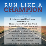 Run Like A Champion Sprint Workout – Best HIIT Workout