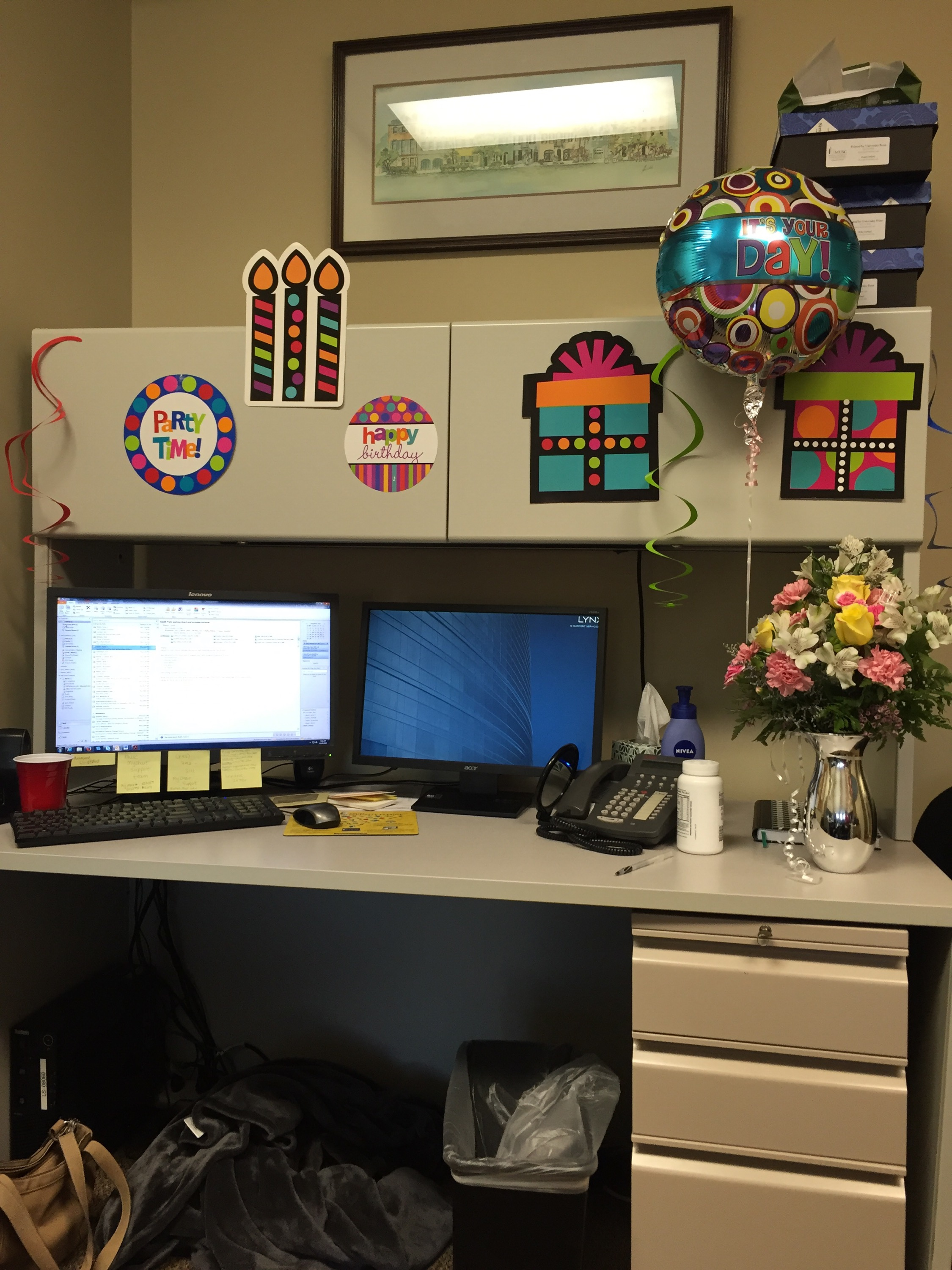 Birthday Decorations at Work
