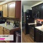 Painting Kitchen Cabinets – Rustoleum Kit before and after pics