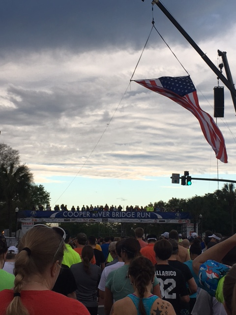 Cooper River Bridge Run 2016 start line