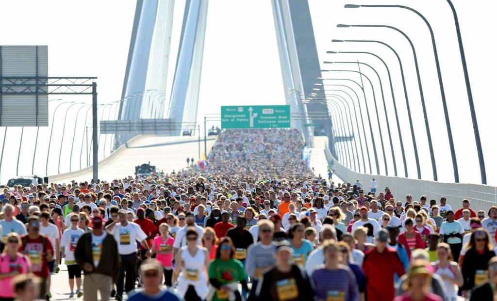 Cooper River Bridge Run Crowds