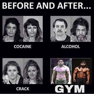 funny quote gym before and after