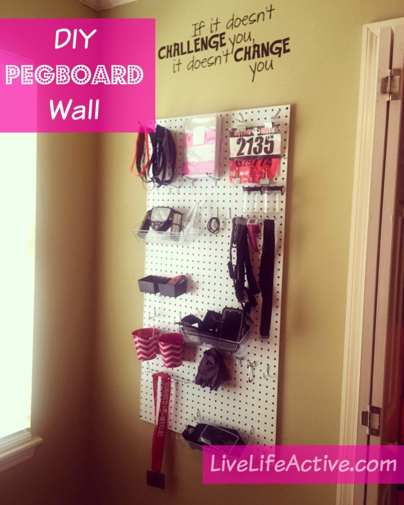 DIY Gym Pegboard Wall Workout Motivation