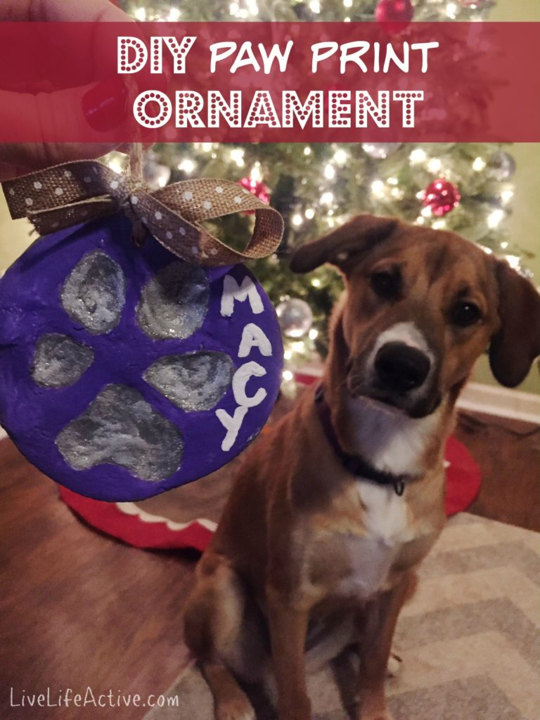salt dough ornament dog paw print homemade how to