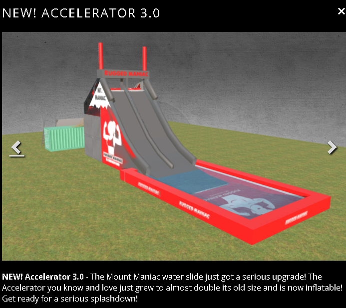 rugged Maniac slide - accelerator 3.0