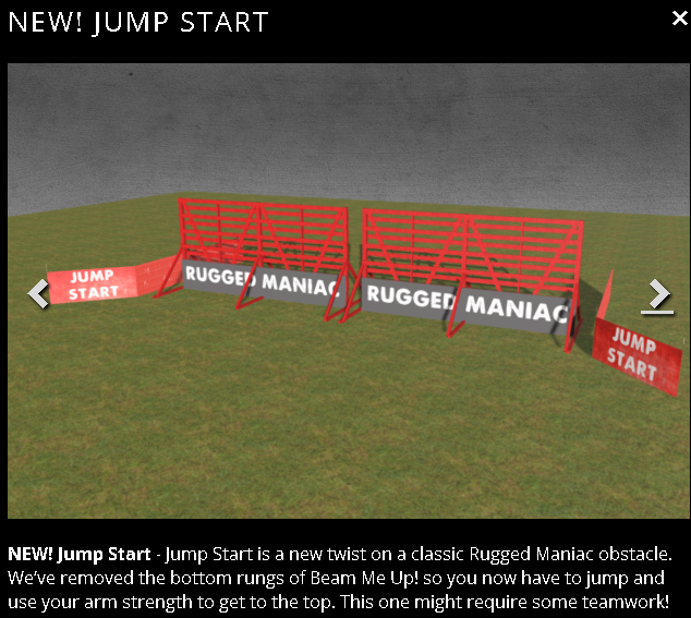 rugged maniac jump start wall