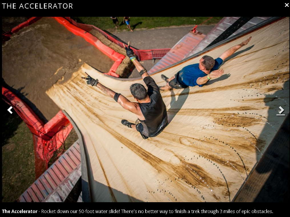 rugged maniac the accelerator old slide