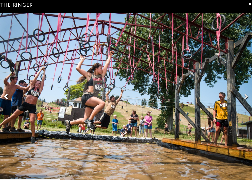 rugged maniac the ringer monkey bar rings